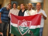 Gil com torcedores do Fluminense